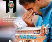 """Póster de Rafel Nadal, con su 11º Roland Garros, con la revista """"Manacor Comarcal"""""""