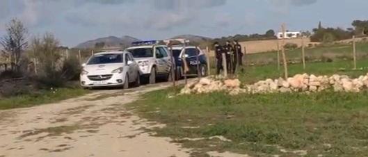 La Policia Local desallotja una festa il·legal amb 40 persones de 12  nuclis familiars al camí de Son Pobre